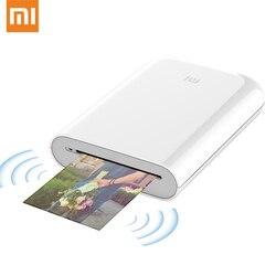 Original Xiaomi Mijia AR Printer Pocket Photo Mini Printer With DIY Share 500mAh Smart Printer Mork With Mijia APP 50pcs Paper