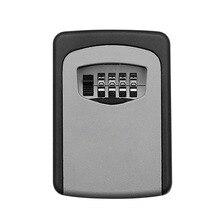 ウォールマウントキー金庫アルミ合金キー収納ボックス 4 桁コンビネーションパスワードボックス屋内屋外での使用