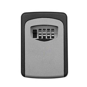 Image 1 - ウォールマウントキー金庫アルミ合金キー収納ボックス 4 桁コンビネーションパスワードボックス屋内屋外での使用