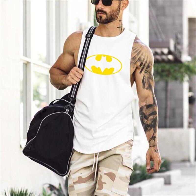running - BATMAN Sleeveless Shirt Clothing tank top Singlet Muscle vest Stringer gym Bodybuilding Fitness Running Training t-shirt