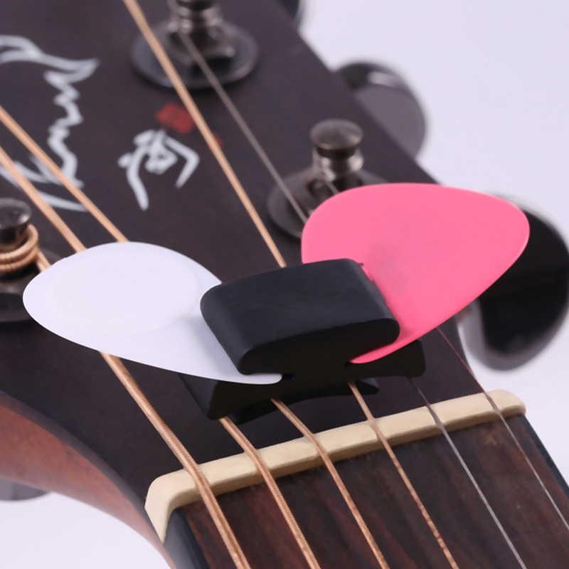1 قطعة المطاط الأسود الغيتار اختيار حامل الإصلاح على الرأس ل الغيتار باس القيثارة لطيف الغيتار الملحقات