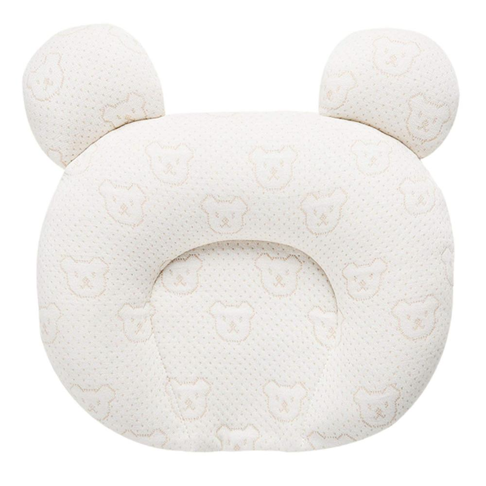 Flat Head Baby Pillow, 0-12 Months Newborn Toddler Infant Pillow For Head Shaping, Natural Latex Toddler Pillow