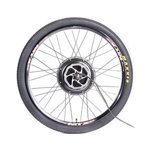 Image 3 - MTB Ebike Rear Wheel Conversion Kit with MTX39 Thick Welding Rim KT LCD3 Display Tire Tube Freewheel Disc Brake