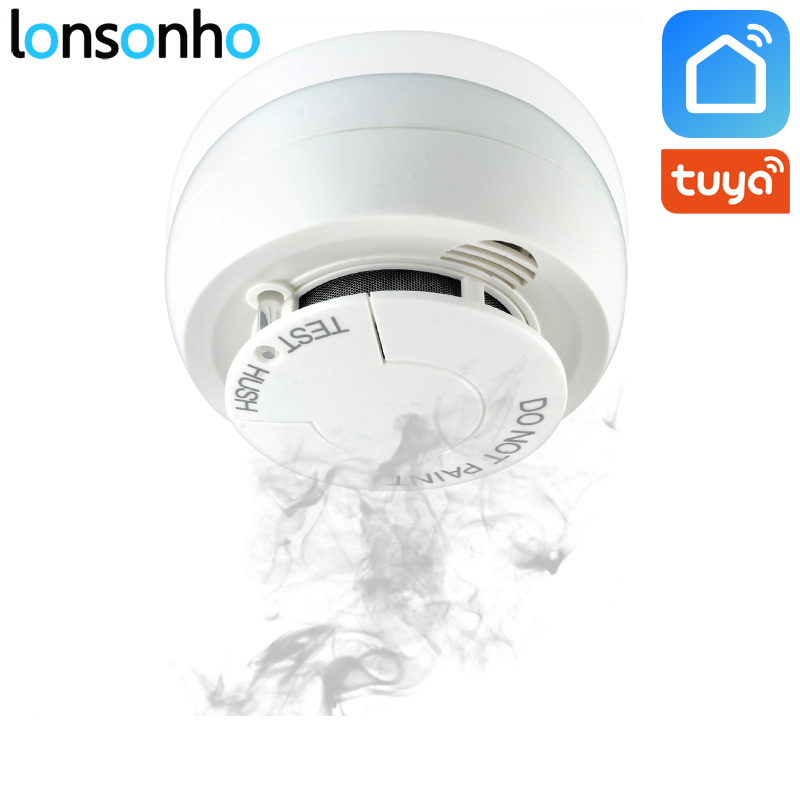 Lonsonho Wifi Smoke Detector Fire Alarm Security System Smart Smoke Sensor Smart Life Tuya App