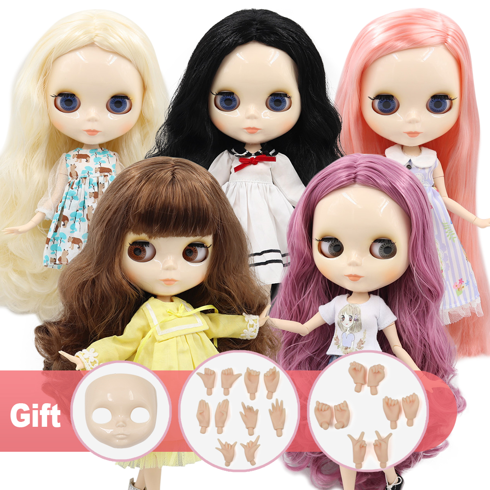 Nude Neo Blythe Doll 1//6 Scale ICY Factory Jointed Body Matte Face Ethnic Toys