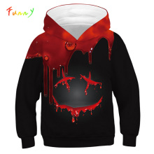 Black Smile 3D Printed Kids Hoodie Sweatshirts Spring Autumn Girls Boys Clothes Casual Long Sleeve Hoodies for Teens Hooded Coat