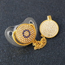 Baby Glam Pearl Pacifier Gold Bling Silk Shimmer Infant Nipple Soother