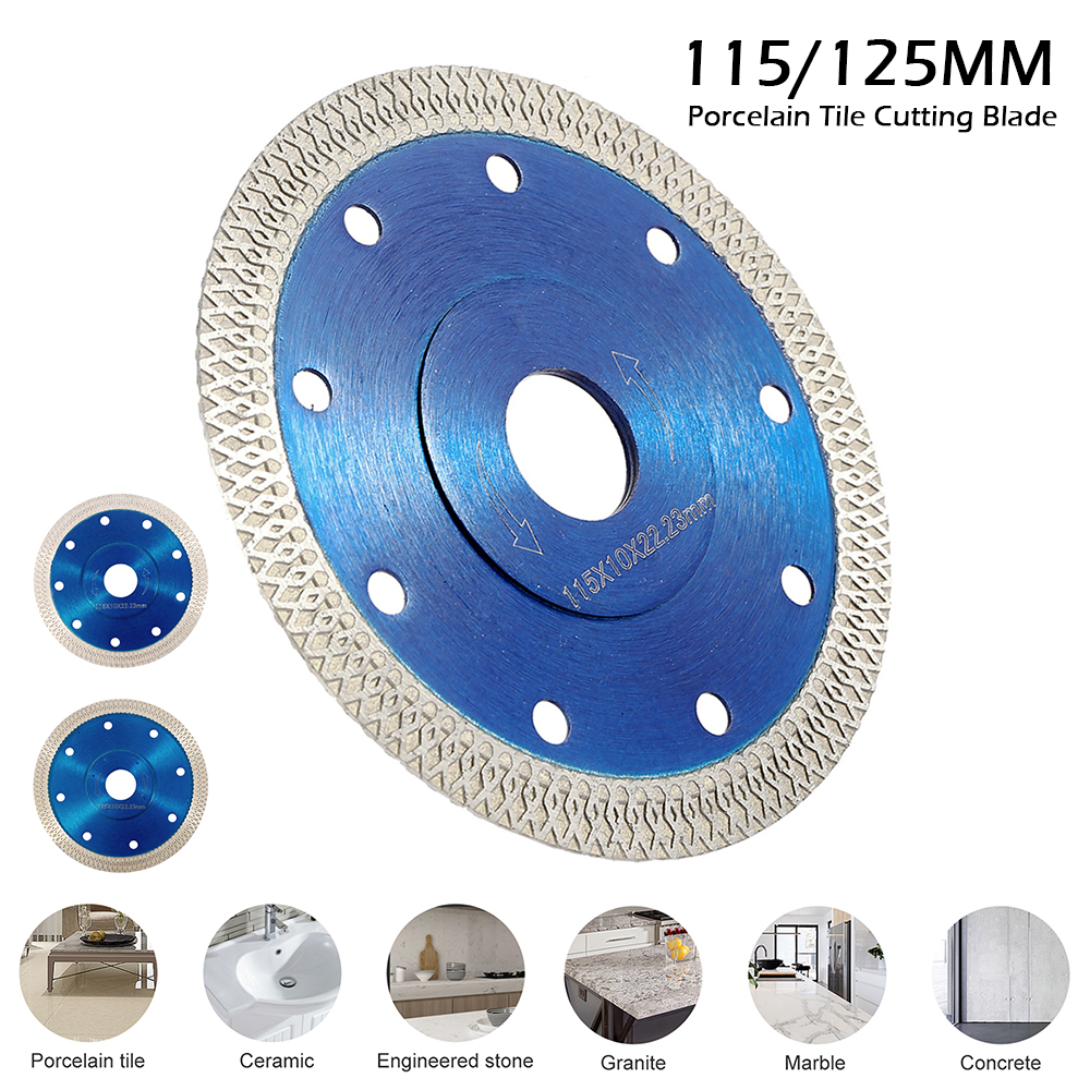 115mm/125mm Porcelain Tile Cutting Blade Ultra-thin Diamond Porcelain Saw Blade Circular Disc For Cutting Porcelain Tiles