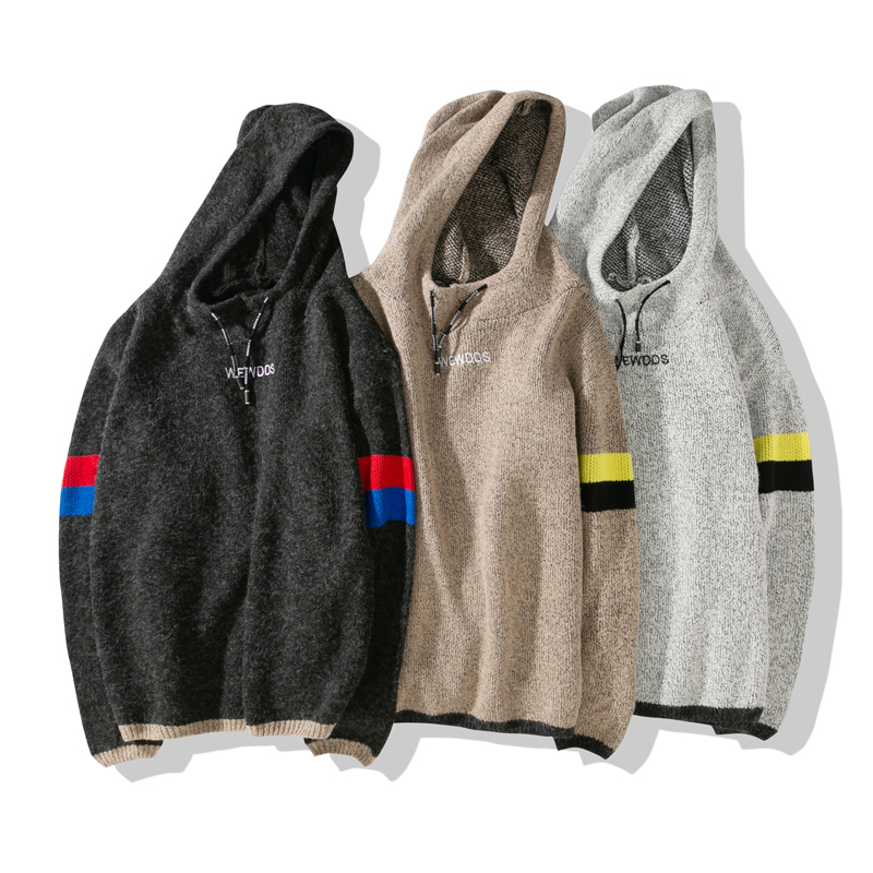 Men   Casual Elastic Sweater Coat Tops Jacket Outwear Sweater Jogger Zipper Men Autumn Winter Hoody Sweatercoat MY104