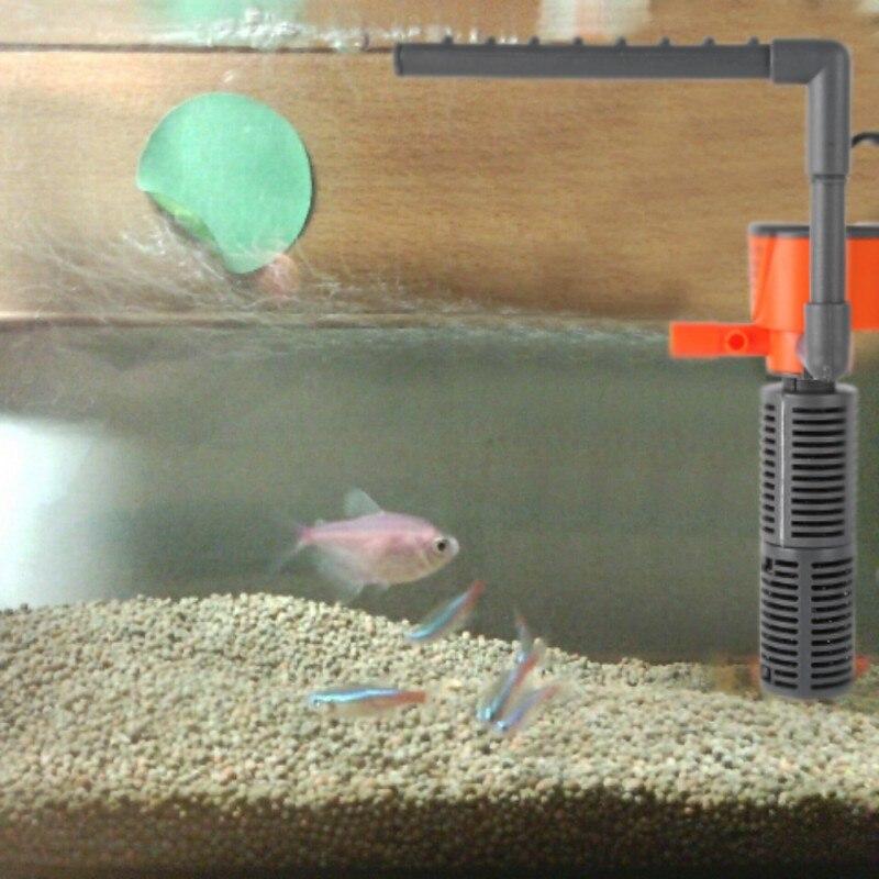 Fish Tank Filter Mini Water Purifier 3/5W Built-In Filter Three-In-One Ultra-Quiet Oxygen Pump Color Random