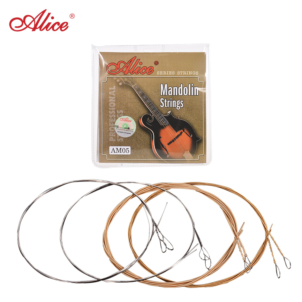 Alice AM05 5pcs Mandolin Strings Set(E-A-D-G) Mandolin String Plated Steel Coated Copper Alloy Winding (.011-.040)