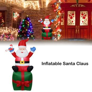 Christmas Inflatable Decoration LED Santa Claus Model Yard Decoration Outdoor Garden Layout Props Party Decoration