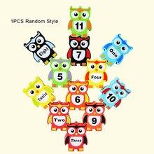 Owl Overlay Ledomino Children'S Puzzle Toy Building-Block Puzzle Toy Creative Diy 3D Wood Building-Block Toy For Children стоимость