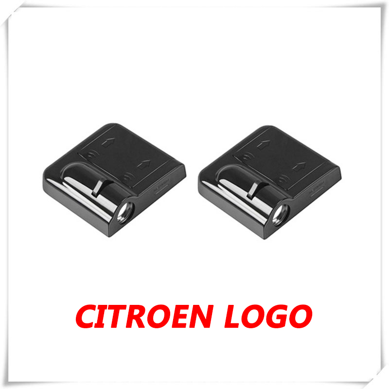 2PCs Car LED Door Ghost Shadow Light Courtesy Laser Projector Logo For Citroen Berlingo  C-Triomphe C-Zero Elysee C1 C3 C4 C5