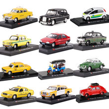 Prachtige originele 1:43 taxi legering model, 16 land simulatie gegoten metalen auto modellen, gift collectie ornamenten, gratis shipp(China)