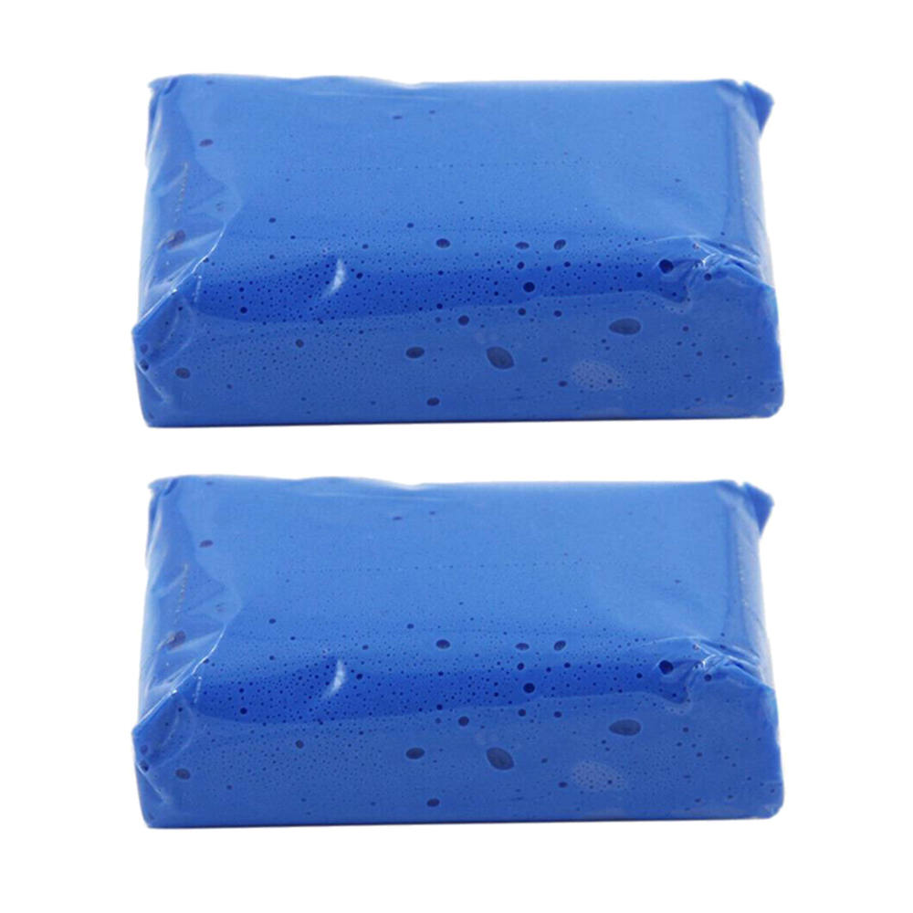 2Pcs Reusable  Auto Cleaning Clay Bar Cleaning Detailing Mud Stains Removal Clean Parts Blue