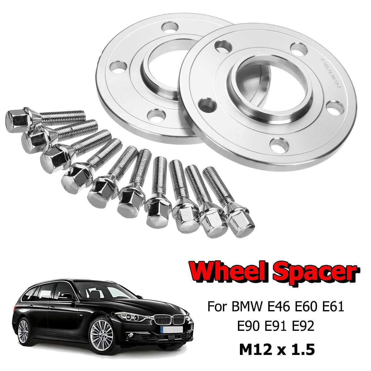 1 paar Auto Rad Spacer Adapter Distanzscheiben Kit 12mm Hubcentric 5X120mm Für BMW 1 3 5 6 7 8 serie E46 E60 E61 E90 E91 E92 Z3 Z4 Z8