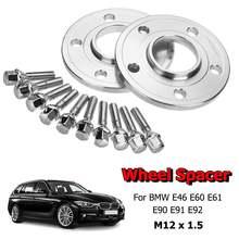 Espaciador de rueda de coche, Kit de cuñas adaptador de 12mm Hubcentric 5x120mm para BMW 1, 3, 5, 6, 7, 8 Series E46, E60, E61, E90, E91, E92, Z3, Z4, Z8 1 par