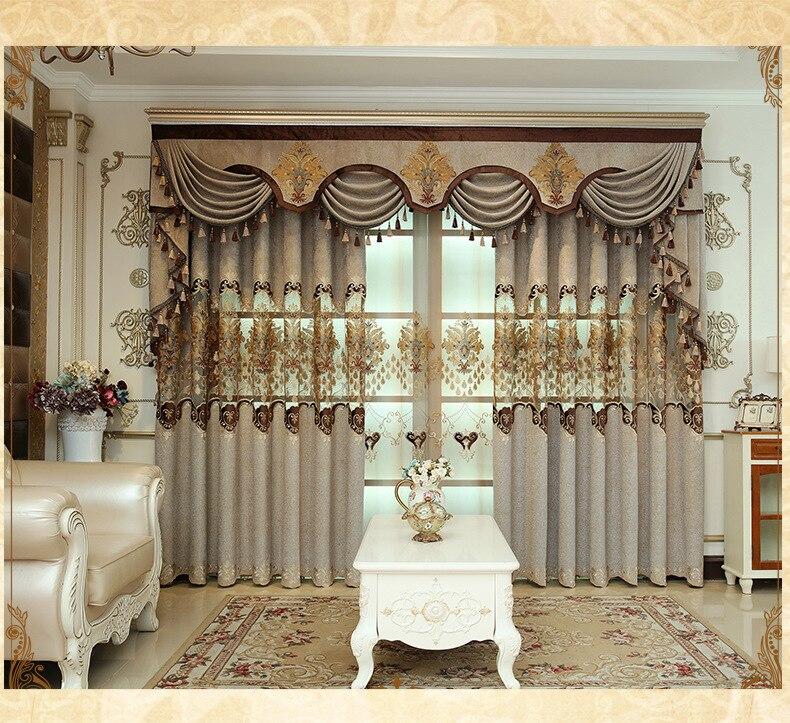 2019 Luxury Curtains Set Jacquard Tulle