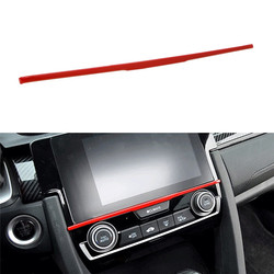 Screen adhesive Trim Sticker Interior Decoration Strip Car Styling Accessories For Honda 10th Gen Civic 2016 2017 2018 2019 2020