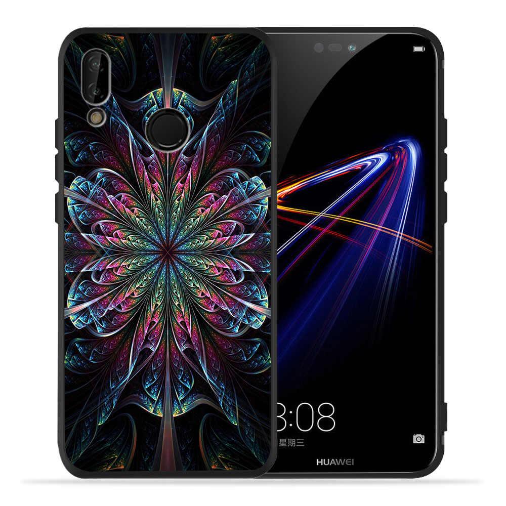 Cassa del telefono di Lusso Retrò Fiori Per Huawei p20 Pro Caso P30 Pro P9 P8 Compagno di 20 Lite Honor 8X9 10 20 P Smart Etui Copertura Coque