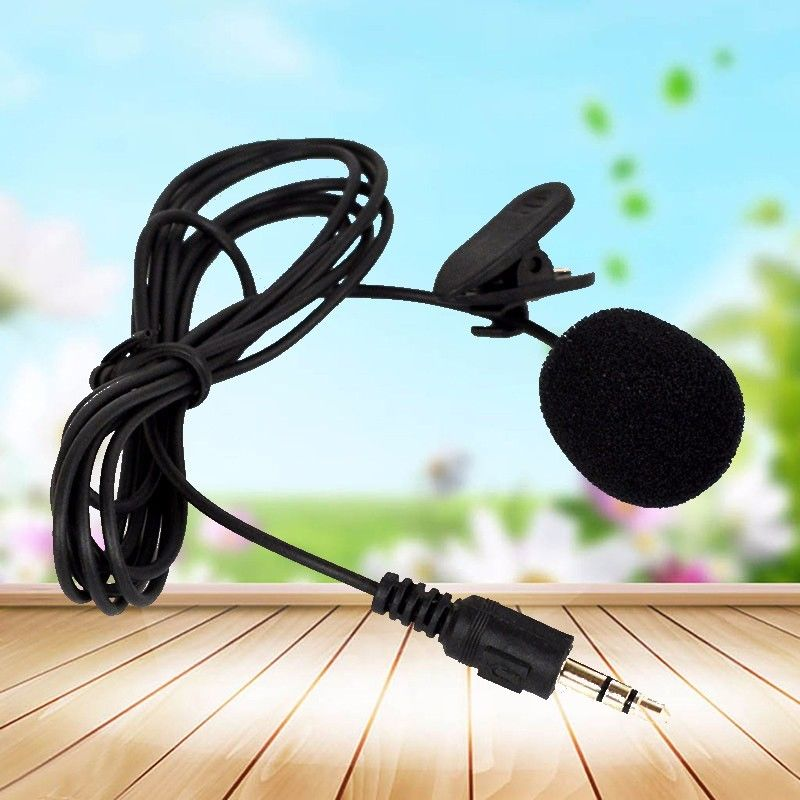 Portable Head-mounted Wired Headset Hands-free Clip On Mini Lapel Microphone MIC Condenser Microfono For Voice Amplifier Speaker