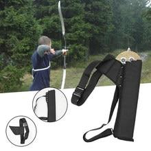 Ao ar livre de caça geral arco recurvo seta saco tubo quiver seta titular portátil para trás/cintura acessórios