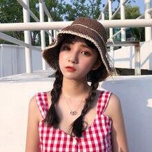Шляпа женская летняя корейская версия простой стиль маленькая