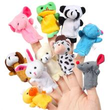 Doll Plush for Kids Gift Hand-Puppet-Toy Learning-Props Animal Educational-Story Baby