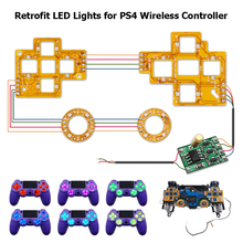 6 Color Luminated D Pad Thumstick Face Button LED Kit for PS4 Controller Electronic Machine Accessories