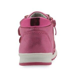 Image 4 - Primavera outono meninas sapatos nova criança de couro do plutônio crianças tênis com zip anti deslizamento sapatos para meninas eur 21 26