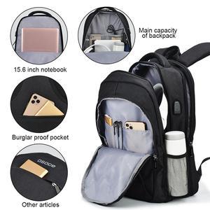 Image 2 - OSOCE сумка для ноутбука рюкзак 15,6 дюймов с зарядка через USB Порты и разъёмы для наушников Водонепроницаемый Бизнес рюкзаков сумок