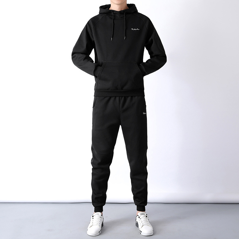 2019 Spring And Autumn Sports Set Hoodie Set Casual Men Knitted Sportswear Can