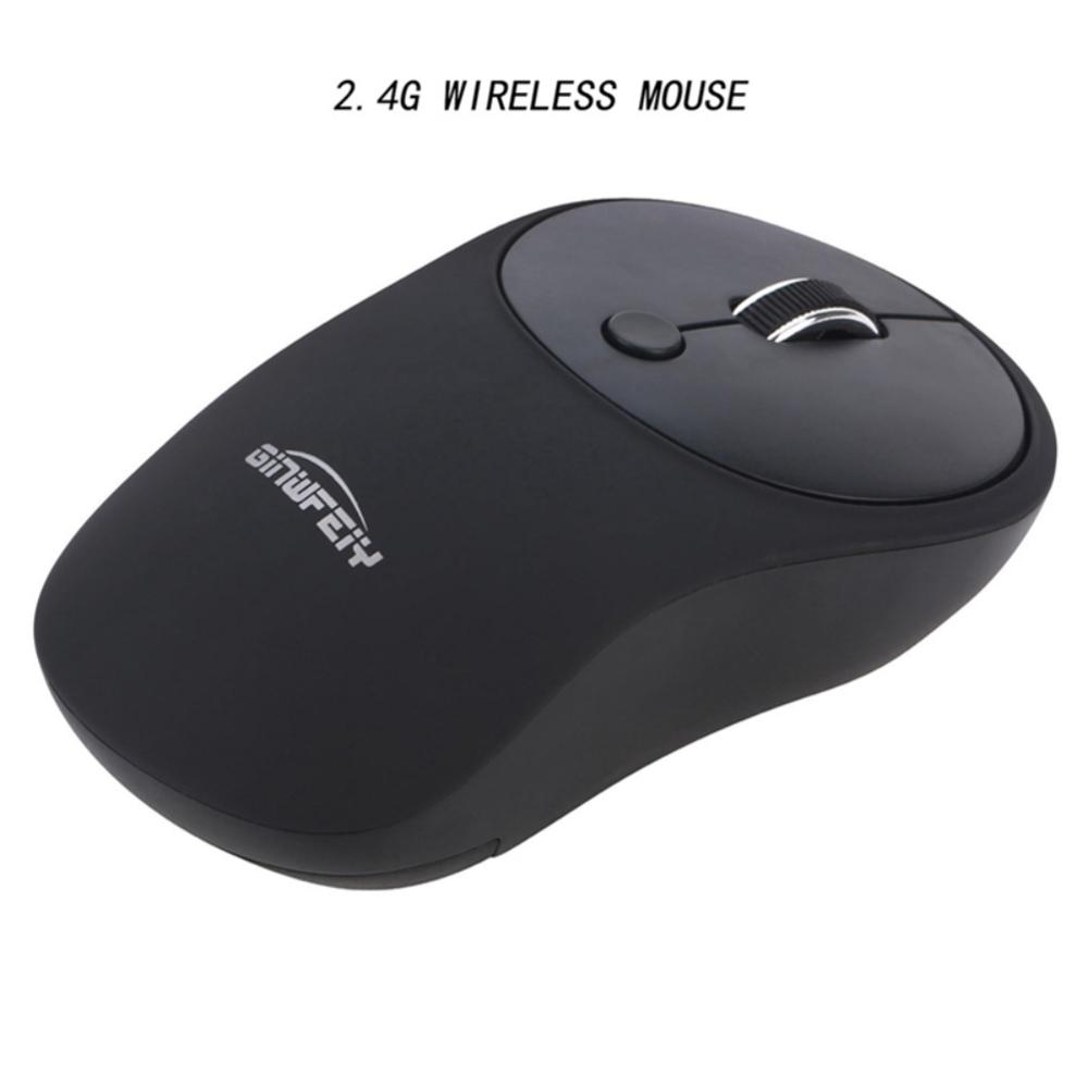 2.4G Rechargeable Silent Wireless Mouse, For Bluetooth USB Office Laptop Mice, 4-buttons 3 Adjustable DPI