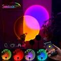 Suntech, Sunset Projection Lamp, USB Rainbow Sunset Lamp Color Changing App Control,180 Degree Rotation SunSet Projection Lamp