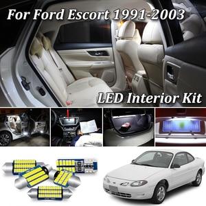 100% No Error Canbus For Ford Escort Coupe Sedan Wagon LED Interior Light + License Plate Lamp Kit (1991-2003)