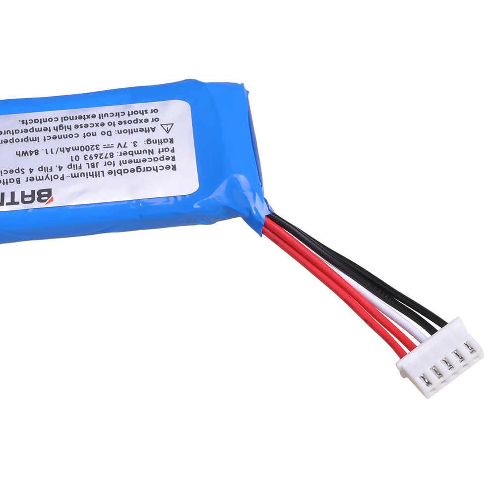 3.7V 3200mAh סוללה GSP872693 01 עבור JBL תשלום 4 JBL Flip 4, Flip 4 מהדורה מיוחדת