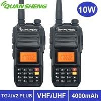 2PCS Quansheng TG UV2 PLUS 10W Powerful Walkie Talkie 10KM Amateur Radio vhf uhf Dual Band Ham CB Radio Transceiver Long Range