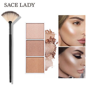 SACE LADY Highlighter Palette Professional illuminate Cosmetics With Makeup Brush Highlighter Face Powder Brush