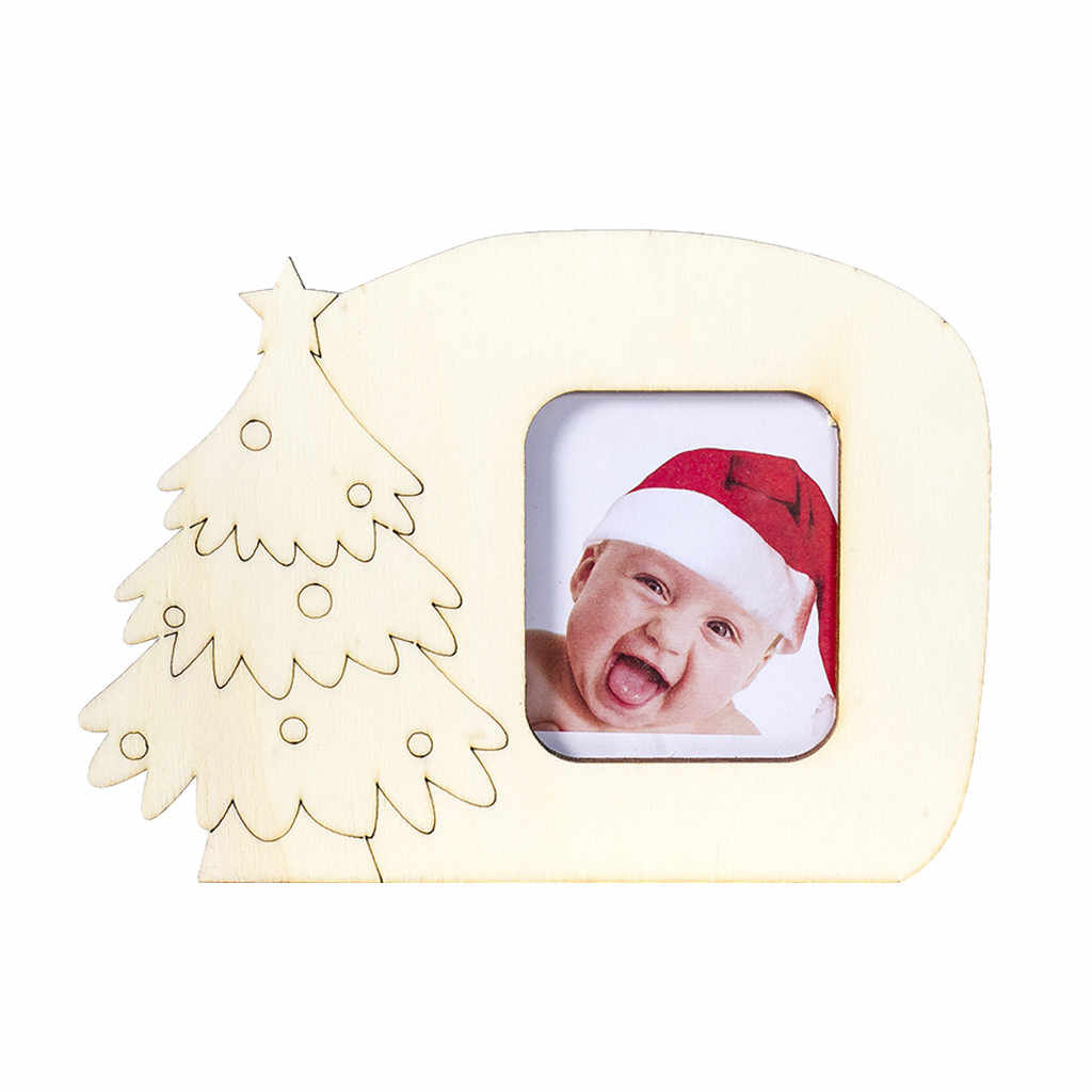 Novas Decorações de Natal Moldura de madeira Foto Festa Enfeite De Mesa Decoração de Natal Pingente de natal Estilo Moderno Home Decor 2020