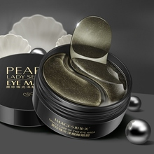 Black Pearl Gel Eye Mask Moisturizing Smooth Fine Lines Anti-puffiness Anti-aging Eye Pad petitfee black pearl gold hydrogel eye patch 60 pcs gel mask skincare dilute the black eye fine lines eye mask replenishment