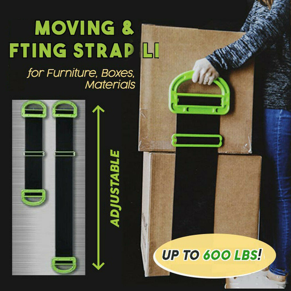 Portable Furniture Carrying Belt Household Adjustable Heavy Goods Safe Handling Moving Rope Boxes Mattress Lifting Straps