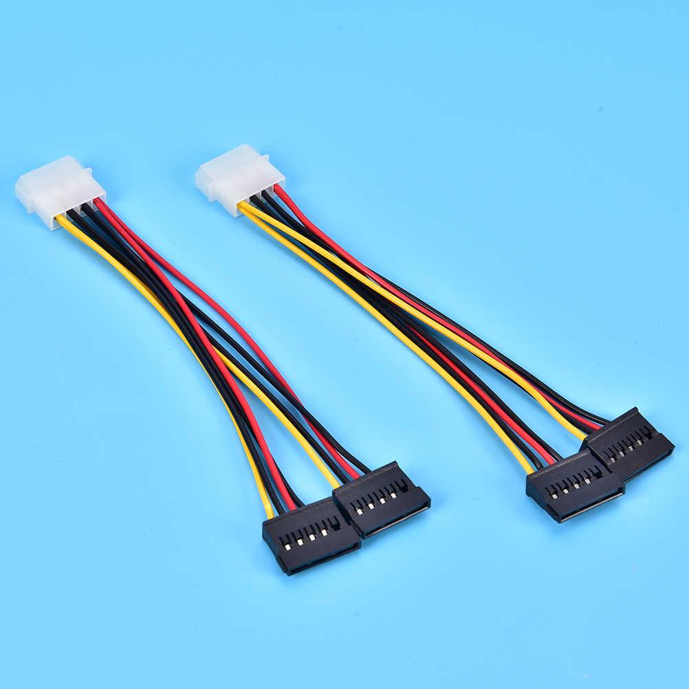 4Pin IDE Molex do 15Pin Serial ATA dysk twardy SATA kabel zasilający Y Splitter dysk twardy kabel zasilający