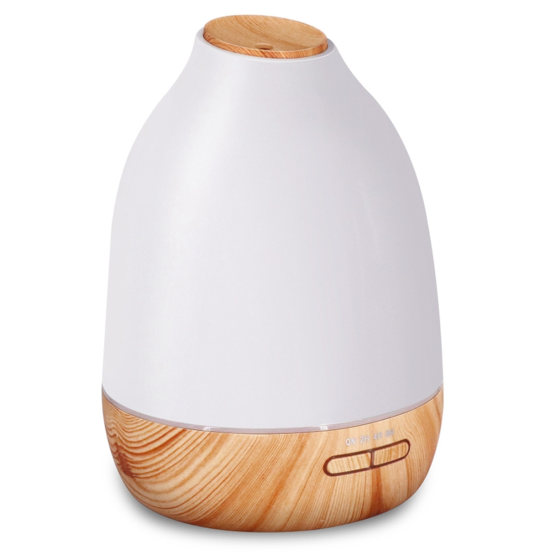 7Color Led Light Essential Oil Diffuser Aroma Diffuser Wood Grain Humidifier Ultrasonic Adjustable Cool Mist With Waterless