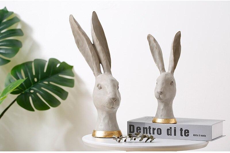 estar exibição resina coelho escultura & estátua