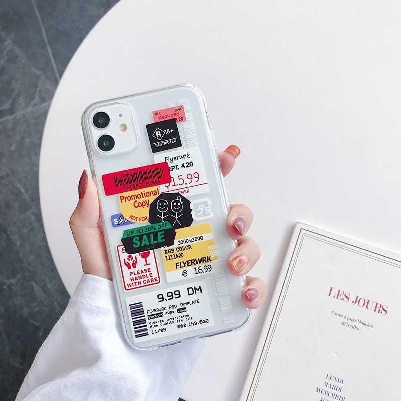 Новый прилив бренд бирки цветной чехол для телефона из мягкого силикона для Etui iPhone 12 11 Pro Max SE iPad Air 2 6 7 8 Plus X XR XS Max нескользящий чехол-накладка coque