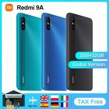 Xiaomi redmi 9a versão global telefone móvel 2gb 32gb mtk helio g25 octa núcleo 6.53