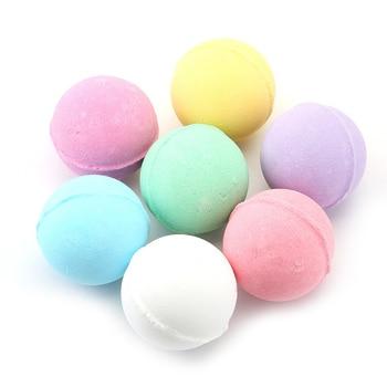1 Pcs Organic Bath Salt Ball Natural Bubble Bath Bombs Ball Rose Green Tea Lavender Lemon Milk MPwell