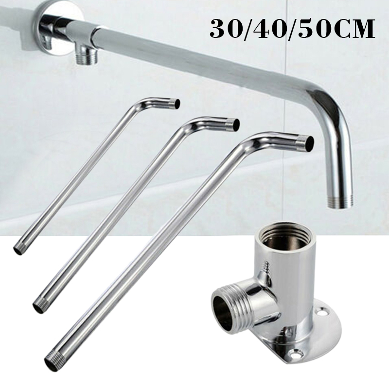 Wall Shower Arm Shower Head Extension Pipe 30cm/40cm/50cm Stainless Steel Arm Bracket For Bathroom Home Accessories