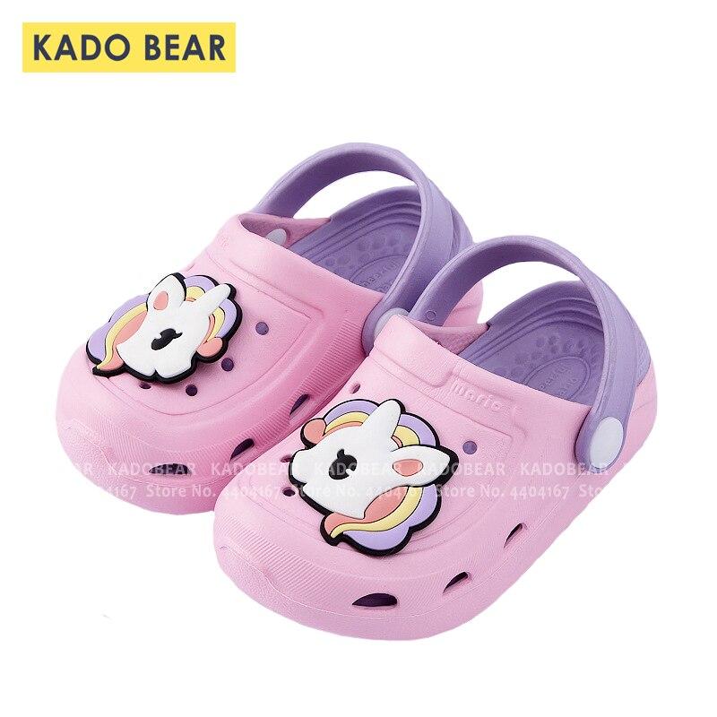 Cartoon Unicorn Kids Beach Water Barefoot Cave Shoes Children Beach Sandals Toddler Boy Girl Indoor Home Slipper Cute Flip Flops